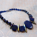 deep blue lapis lazuli necklace design