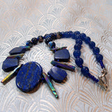 unique handcrafted blue gemstone necklace