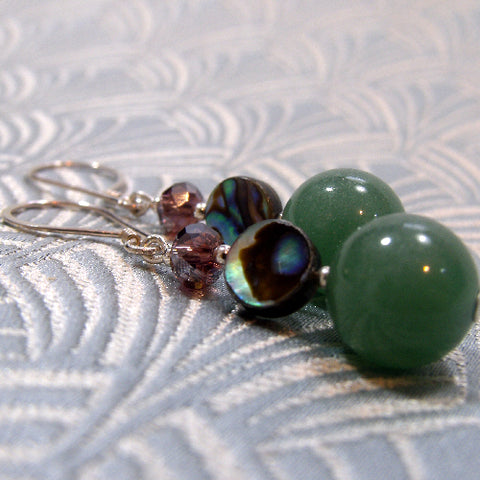 Green Aventurine Gemstone Earrings