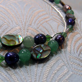 semi-precious gemstone sterling silver beads detail