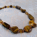 tigers eye necklace, semi-precious stone necklace, unique tigers eye jewellery