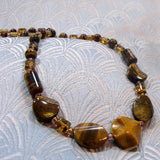 unique handcrafted tigers eye jewellery necklace