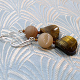 unique tigers eye earrings uk