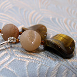 tigers eye drop earrings handmade uk