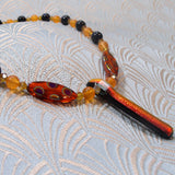 orange gemstone necklace uk