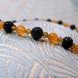 orange gemstone beads