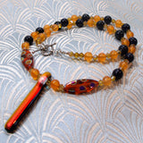 bright orange gemstone handmade necklace