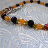 orange jade gemstone beads
