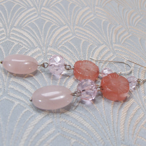 Long Dangle Gemstone Earrings UK