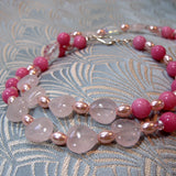 rose quartz heart beads