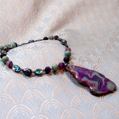 Agate Gemstone Necklace (980)