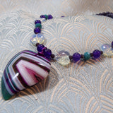 heart shaped agate necklace with pendant