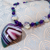 agate necklace jewellery, gemstone pendant necklace, agate necklace uk
