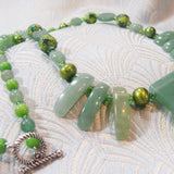 green aventurine semi-precious stone necklace