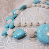 blue white gemstone beads