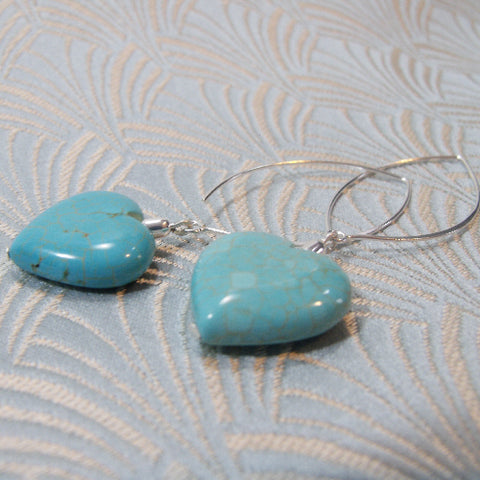 Long Drop Turquoise Earrings UK