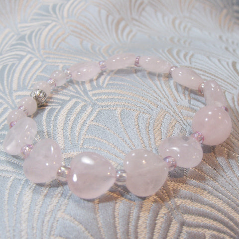 Rose Quartz Stretch Bracelet UK