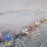 detail for handmade rose quartz jewellery