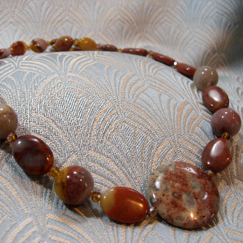 Semi-Precious Jasper Stone Necklace