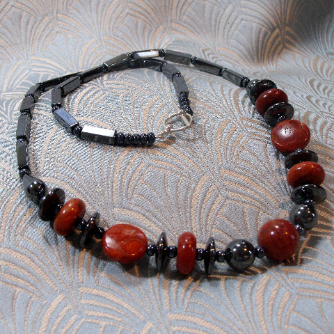 Hematite Semi-Precious Necklace UK
