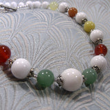 mixed gemstone bracelet, handmade semi-precious stone necklace jewellery unique design