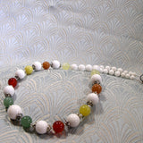 unique mixed semi-precious gemstone necklace