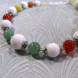 mixed semi-precious gemstone necklace handmade uk