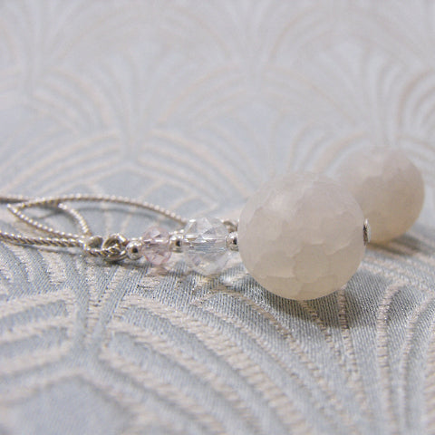 White Semi-Precious Earrings UK