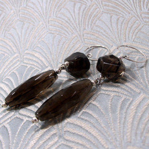 Long Dangle Quartz Earrings UK
