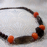 handmade smoky quartz necklace uk