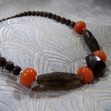 handmade smoky quartz gemstone necklace uk