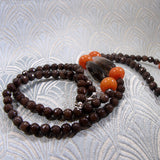 long smoky quartz beads