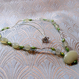 delicate green jade necklace uk