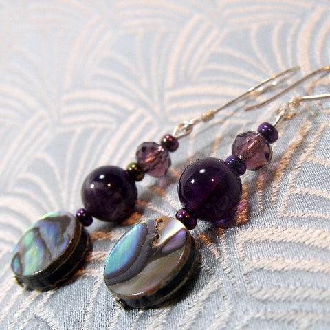 Paua Shell Gemstone Earrings UK