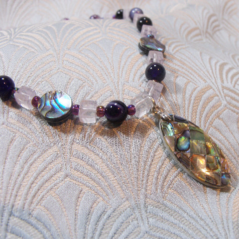 Paua Shell Semi-Precious Necklace