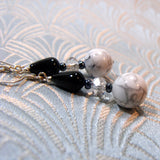 white howlite handmade earrings uk