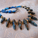 blue jasper semi-precious necklace design