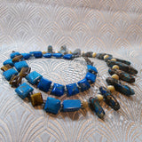 blue jasper gemstone necklace