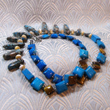 blue jasper semi-precious stone necklace handmade uk