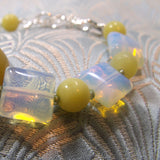 yellow jade gemstone beads