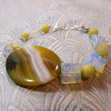 unique agate gemstone bracelet