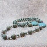 long turquoise necklace design