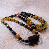unique long semi-precious gemstone necklace uk