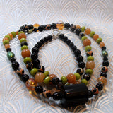 extra long semi-precious gemstone necklace