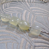 delicate green gemstone beads