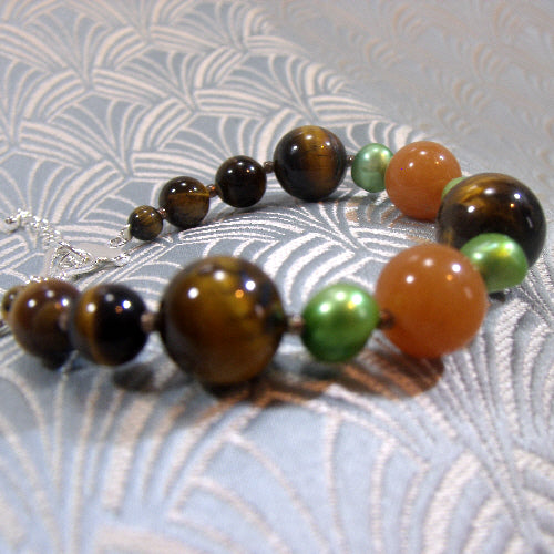 tigers eye bracelet uk, semi-precious gemstone jewellery bracelet, tigers eye jewellery