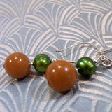 aventurine earrings, gemstone earrings, semi-precious stone jewellery uk