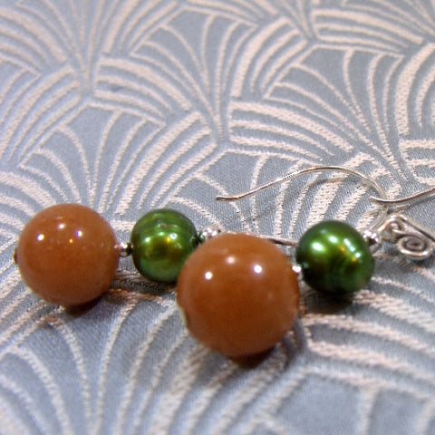 Aventurine Semi-Precious Earrings