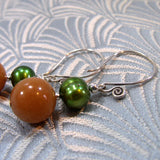semi-precious pearl earrings uk