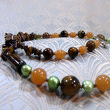tigers eye detail necklace